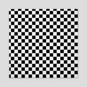 Black White Checkered Queen Duvet