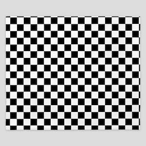 Black White Checkered King Duvet
