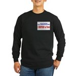NO VOTE #3 Long Sleeve Dark T-Shirt