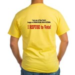 NO VOTE #3 Yellow T-Shirt