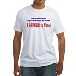 NO VOTE #3 Fitted T-Shirt