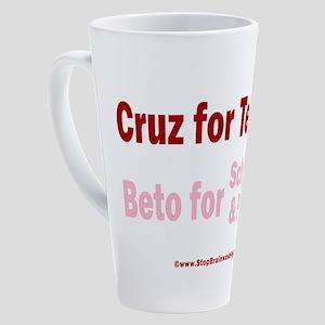 Cruz for Texas 17 oz Latte Mug