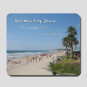 Del Mar City Beach Mousepad