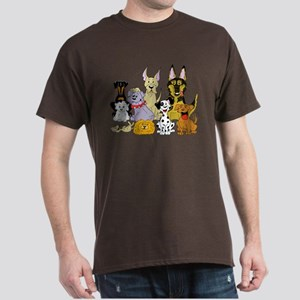Cartoon Dog Pack Dark T-Shirt