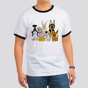 Cartoon Dog Pack Ringer T