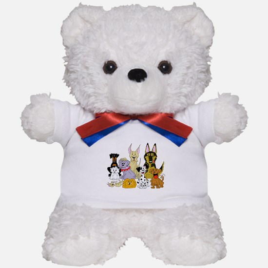 Cartoon Dog Pack Teddy Bear