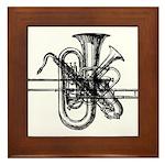 Brass & Sax Framed Tile