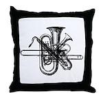 Brass & Sax Throw Pillow