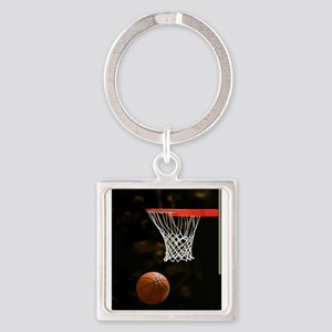 Basketball Ball and Hoop Keychains