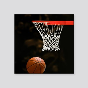 Basketball Ball and Hoop Sticker