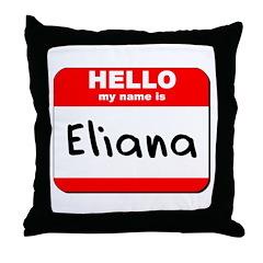 Hello my name is Eliana Throw Pillow
