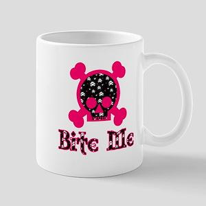 Bite Me Skull Pink-Skull Mug