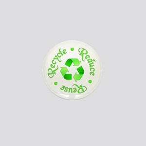 Reduce - Reuse - Recycle Mini Button (10 pack)