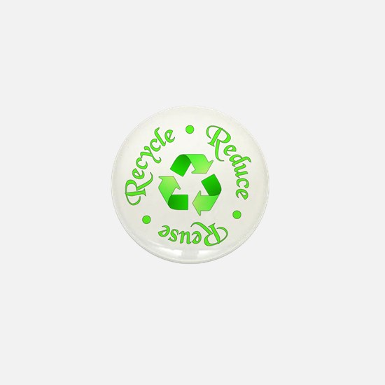 Reduce - Reuse - Recycle Mini Button