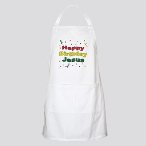 Happy Birthday Jesus BBQ Apron