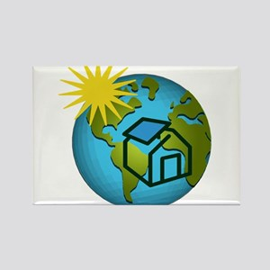 Solar Power Earth Rectangle Magnet