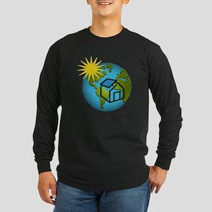 Solar Power Earth Long Sleeve Dark T-Shirt