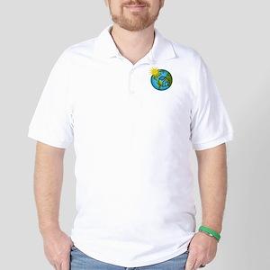 Solar Power Earth Golf Shirt