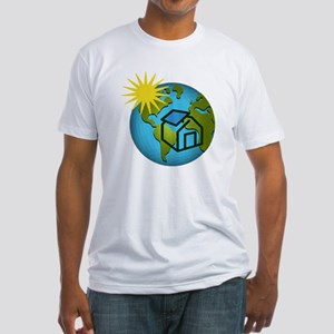Solar Power Earth Fitted T-Shirt
