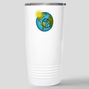 Solar Power Earth Stainless Steel Travel Mug