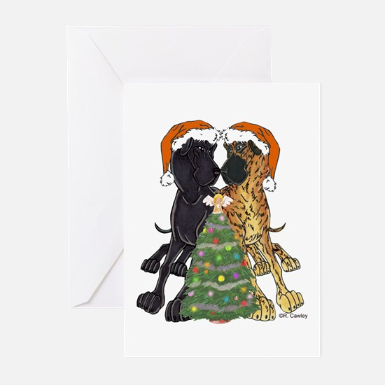 NN Xmas Tree3 Greeting Cards (Pk of 10)