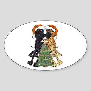 NN Xmas Tree3 Oval Sticker