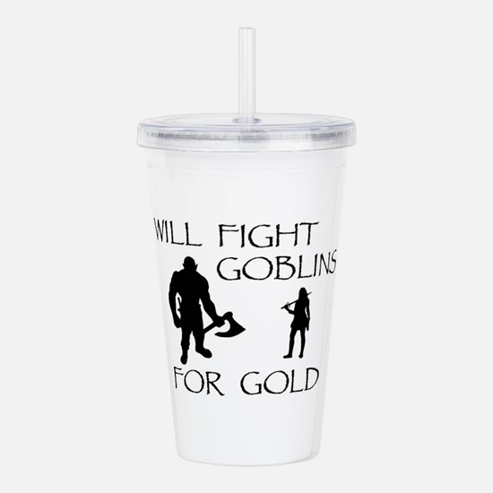 Warrior Woman Quests f Acrylic Double-wall Tumbler