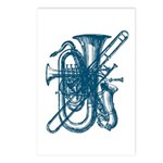 Blue Brass & Sax Postcards (Package of 8)