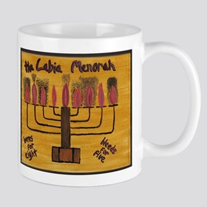 The Labia Menorah Mug