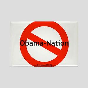 No Obama Nation - Rectangle Magnet