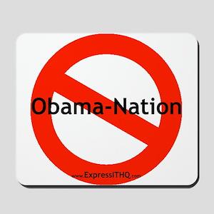 No Obama Nation - White Mousepad