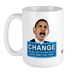 Obama-style CHANGE Large Mug