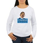 Obama-style CHANGE Women's Long Sleeve T-Shirt