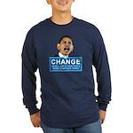Obama-style CHANGE Long Sleeve Dark T-Shirt