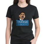 Obama-style CHANGE Women's Dark T-Shirt