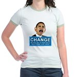 Obama-style CHANGE Jr. Ringer T-Shirt