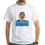 Obama-style CHANGE White T-Shirt