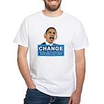 Obama-style CHANGE White T-Shirt