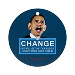 Obama-style CHANGE Ornament (Round)