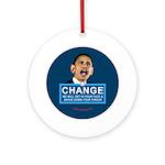 Obama-style CHANGE Ornament (Round)
