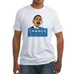 Obama-style CHANGE Fitted T-Shirt