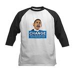 Obama-style CHANGE Kids Baseball Jersey