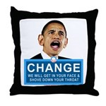 Obama-style CHANGE Throw Pillow