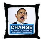 Obama-style CHANGE Throw Pillow