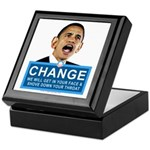 Obama-style CHANGE Keepsake Box