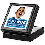 Obama-style CHANGE Keepsake Box