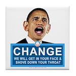 Obama-style CHANGE Tile Coaster