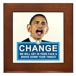 Obama-style CHANGE Framed Tile