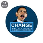 """Obama-style CHANGE 3.5"""" Button (10 pack)"""
