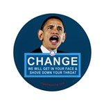 """Obama-style CHANGE 3.5"""" Button (100 pack)"""